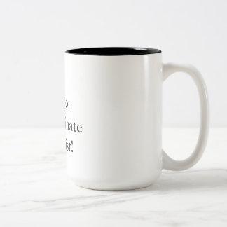 Zu-listen Sie auf Zweifarbige Tasse