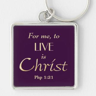 Zu Live ist christliches Christus-Gold Schlüsselanhänger