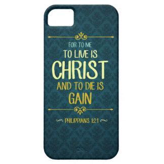 Zu Live ist Christus - Philippians-1:21 iPhone 5 Schutzhülle