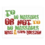 Zu Massagen tun Postkarten