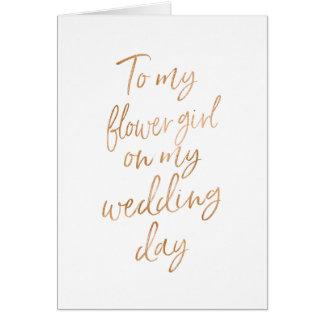 Zu meinem Blumenmädchen auf meiner wedding Karte