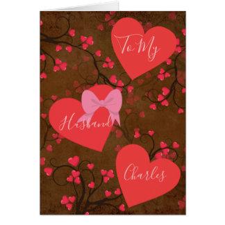 Zu meinem Ehemann auf Valentinstag-Herzen Karte
