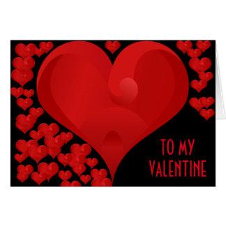 Zu meinen Valentine-Liebe-Herz-roten Herzen Karte