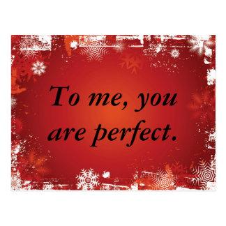 Zu mir sind Sie perfekt Postkarte