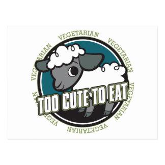 Zu niedlich Schafe essen Postkarte