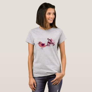 Zu niedliches Vogel-grafische Kunst-T-Shirt T-Shirt