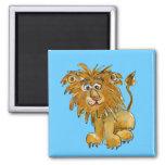 Zu personifizieren Cartoon-Löwe-Magnet Quadratischer Magnet
