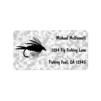 Zu personifizieren Fliegen-Fischenköder Adressaufkleber