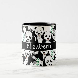 Zu personifizieren Panda-Bärn-grafisches Muster Zweifarbige Tasse