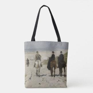 Zu Pferde Fahrt entlang dem Strand - feine Tasche