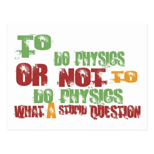 Zu Physik tun Postkarten