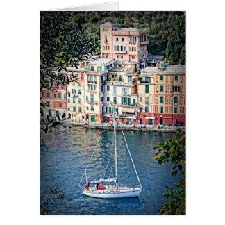 Zu Portofino segeln, Italien-Gruß-Karte Karte