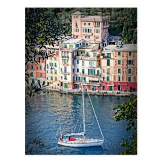 Zu Portofino segeln, Italien-Postkarte Postkarte