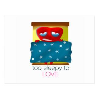 Zu schläfrig zur Liebe Postkarte