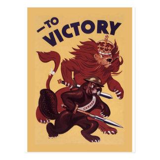Zu Sieg-Kanada ~ Kriegs-Propaganda-Kampagne 1942 Postkarte