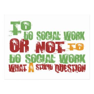 Zu Sozialarbeit erledigen Postkarte