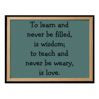 Zu Teach ist Liebe-Postkarte Postkarte
