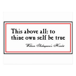 """""""Zu Thine besitzen Sie Selbst ist wahr """" Postkarte"""