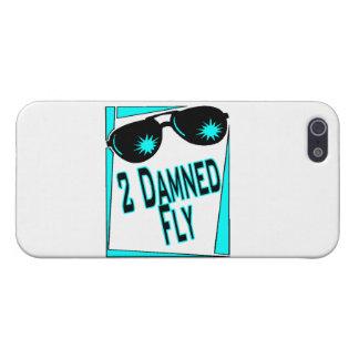 Zu verdammte Fliegen-Sonnenbrille iPhone 5 Cover