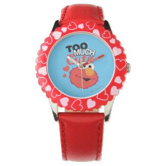 Zu viel niedlicher Elmo Armbanduhr