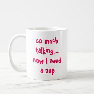 zu viel sprechenkaffeetasse kaffeetasse