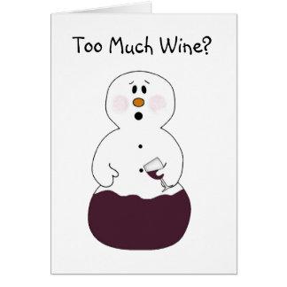 Zu viel Wein-Weihnachtskarte Karte