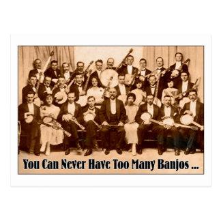 Zu viele Banjo-Postkarte Postkarte