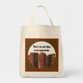zu viele Buch-Tasche Einkaufstasche