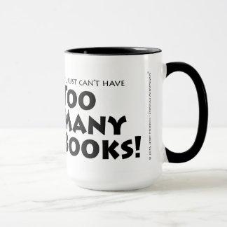 Zu viele Bücher Tasse