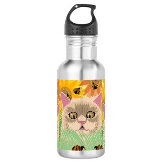 Zu viele Marienkäfer - Pastell Trinkflasche