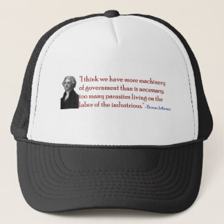 Zu viele Parasiten - Jefferson-Zitat-Hut Truckerkappe