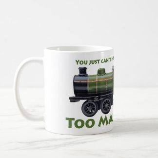 Zu viele Zug-Antike Kaffeetasse