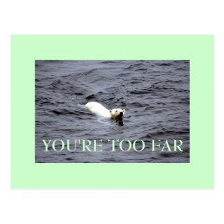 zu weit postkarte