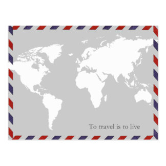 zu zu reisen ist zu leben. worldmap postkarte
