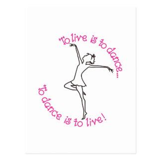 Zu zu tanzen ist zu leben postkarte