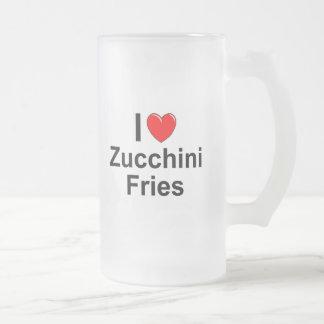Zucchini-Fischrogen Mattglas Bierglas
