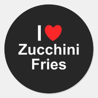 Zucchini-Fischrogen Runder Aufkleber