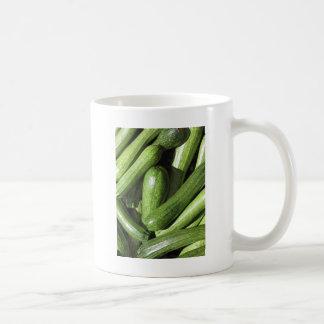 Zucchinihintergrund Kaffeetasse