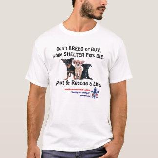 Züchten Sie nicht oder kaufen Sie, während T-Shirt