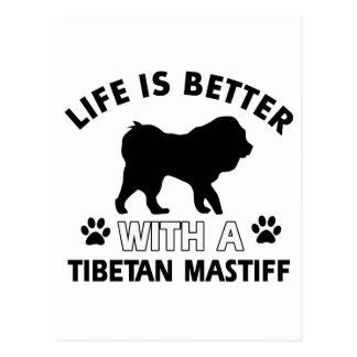 Zuchtentwürfe des tibetanischen Mastiff Hunde Postkarte