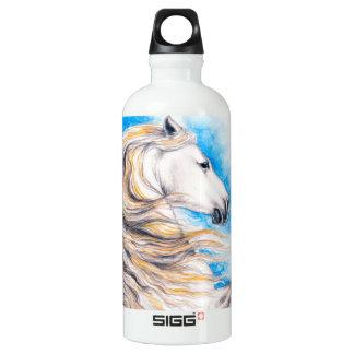 Züchtung des weißen Pferds Wasserflasche