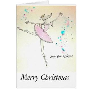 Zucker-Pflaume Whippet Weihnachtskarte Karte