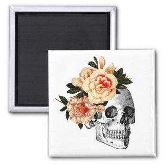 Zucker Skull Dia De Los Muertos Day der Toten Quadratischer Magnet