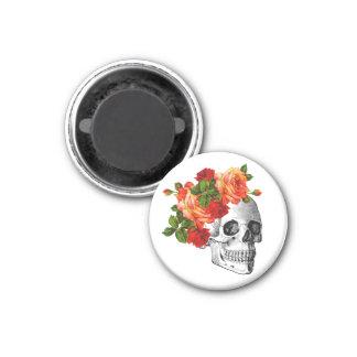 Zucker Skull Dia De Los Muertos Day der Toten Runder Magnet 3,2 Cm