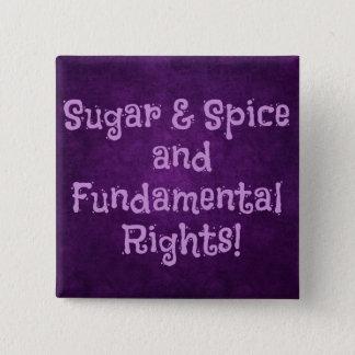 Zucker- und Gewürzfeministknopf Quadratischer Button 5,1 Cm