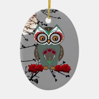 Zuckereule Keramik Ornament
