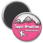 ZuckergebirgsNorth Carolina Snowboardmagnet Runder Magnet 5,7 Cm
