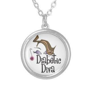 Zuckerkranke Diva Halskette Mit Rundem Anhänger