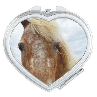 Zuckern Sie das Appaloosa-Pferd, Herz-kompakten Taschenspiegel