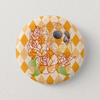 Zuckern Sie Knopf-Button Abzeichen Raute des Runder Button 5,7 Cm